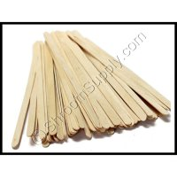 Natural Wood Stir Sticks - Pack of 50