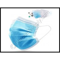 Protective 3-Ply Disposable Face Mask w/ Ear Loops