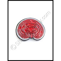 """Red Reishi"" Enamel Mushoom Pin"